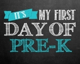 """""""First day of..."""" printables for Pre-k - 12th grade. **BLUE COLOR**"""