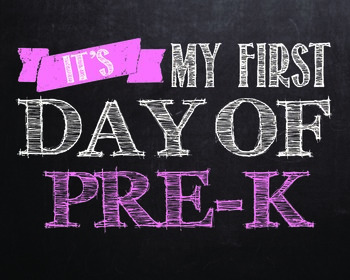 """First day of..."""" printables for Pre-k - 12th grade. **PINK COLOR**"""