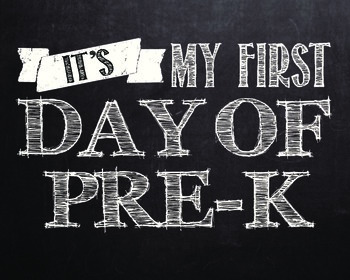 """First day of..."" printables for Pre-k - 12th grade. **WHITE COLOR**"
