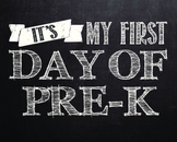 """""""First day of..."""" printables for Pre-k - 12th grade. **WHI"""