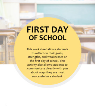 First day of school -- Getting to Know You