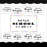 First day of school Sign Primary grades rainbow border