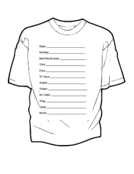 First day of school T-shirt Project.