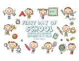 First day of school day plan with activities for French Immersion