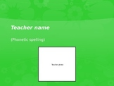First day of school get to know your teacher ppt