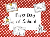 First day of school hats, certificate, and all about me page