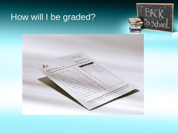 First day of school powerpoint presentation (editable)
