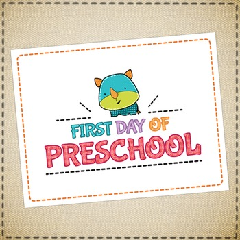 First day of school printable sign - for the little ones