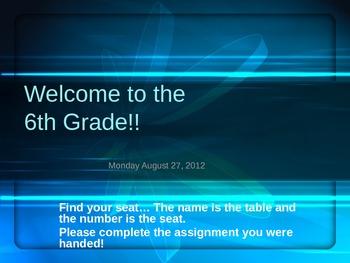 First day of school procedure powerpoint