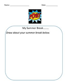 First day of school superhero journal entry theme bundle