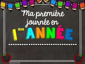 First day photo cards - Affiches première journée d'école FRENCH