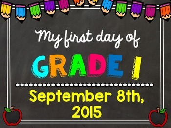 First day photo posters - EDITABLE