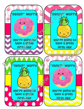 First day tags,donut worry,donut tags,labels,back to schoo