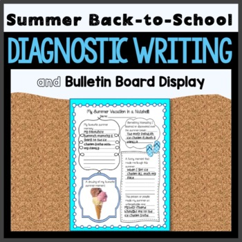 First days of School Bulletin Board and Writing Activities