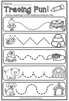 kindergarten no prep printables(Growing bundle)