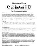 First four Caliphs during Islamic Empire Article and questions