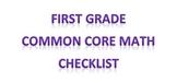 First grade Common Core Math Checklist