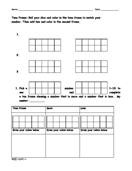 First grade Common Core Math Unit test 1 with worksheets