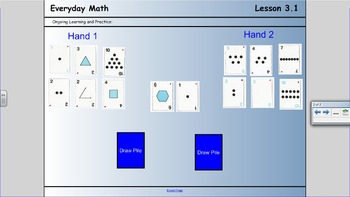 First grade Everyday Math 3.1 - Before and After card game