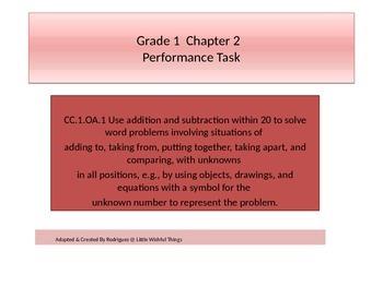 First grade  Math Performance task Chapter 2