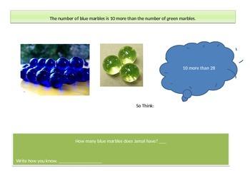 First grade  Math Performance task Chapter 7
