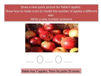 First grade  Math Performance task Chapter 8