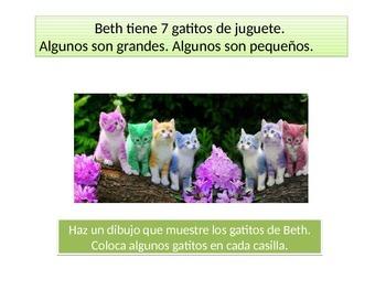 Spanish First grade  Chapter 1 Math Performance task