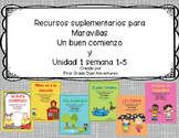 First grade- Maravillas - Unit 1 Bundle