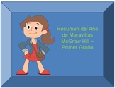 First grade ~ Maravillas ~ Year at a glance