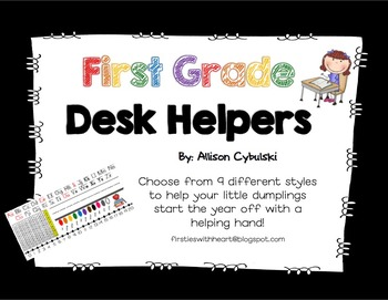 First grade Name Tags/Desk Helpers