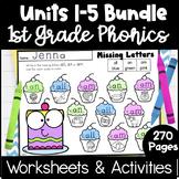 First Grade Phonics Units 1-5 Bundle