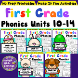 First Grade Phonics Units 10-14 Bundle