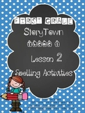 First Grade StoryTown  Theme 1 Lesson 2 Spelling Activity packet