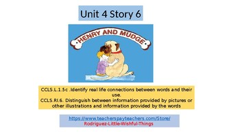"""First grade Unit 4 Story 6 """"Henry and Mudge & Mrs. Hopper's House"""