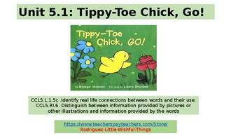 First grade Unit 5 story 1 Tippy Toe Chick