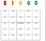 First grade bingo dolch sight words