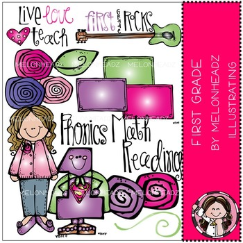 Melonheadz: First grade clip art - COMBO PACK
