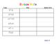 First grade journeys rainbow write unit 3