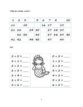 First grade math pack