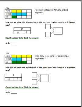First grade math warm-ups Common Core connected ALL 3 SETS