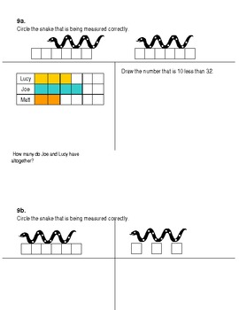 First grade math warm-ups Common Core connected SET 1