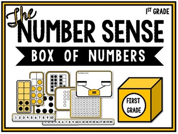 First grade number sense box of numbers
