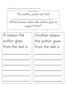 First grade reading graphic organizer for RI1.8