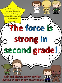 First grade revision for new second graders {Star Wars graphics}
