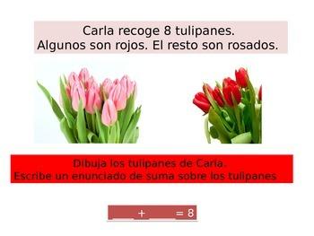 Spanish First  grade Chapter 5 Math Performance task