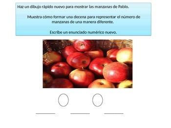 Spanish First  grade Chapter 8 Math Performance task