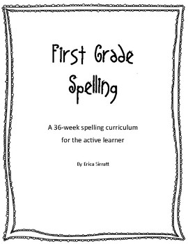First grade spelling lists and activities