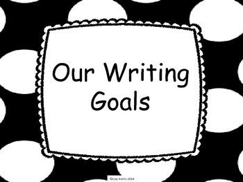 First grade writing goals signs