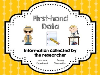 First-hand and Second-hand Data Interactive Journal Fold-its