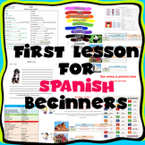 First lesson for Spanish beginners Primera lección para pr
